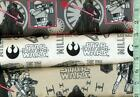 1/2 yard FLANNEL Licensed Star Wars STAR WARS Star Wars 3 Different BTHY