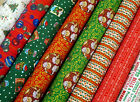 Christmas Cotton and Poly Fabric sold by Meter