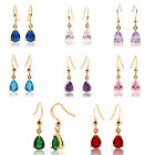 Women Jewelry Sale Rhinestone Yellow Gold Plated Dangle Earrings