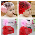 New Cute Kids Baby oddler Children Lace Headband Hair Bow Accessories Headwear