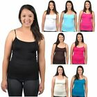 Women Sleeveless Camisole Basic Stretch Spandex Tank Tops Cami New Plus Size