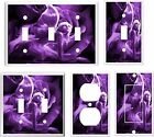 FAIRY AND  ROSES PURPLE SHADES K2 LIGHT SWITCH COVER PLATE  U PICK PLATE SIZE
