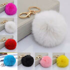 Fashion Womens Fur Ball PomPom Cell Phone Car Keychain Pendant Handbag Charm Key