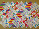 CARNIVAL ~ COTTON FABRIC PATCHWORK SQUARES PIECES CHARM PACK CRAFT 2 4 5 INCH