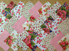 COTTON FABRIC PATCHWORK SQUARES PIECES CHARM PACK 4 & 5 INCH ~ VERONA PINK
