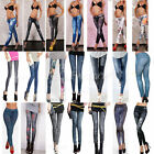 New Sexy Womens Leggings Jeggings Womens Fashion tattoo jeans look Fit Size 6-12