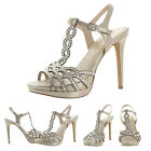 Vince Camuto Cristiana Women's Dress Sandals Heels Shoes Rhinestones