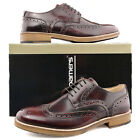 Mens New Oxblood Formal Smart Suit Hi-Shine Leather Brogues Gibson Shoes 6 - 12