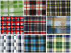 "Polar Fleece Printed Fabric TARTAN 60"" Wide Sold By the Yard / part 2"