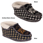 Ladies Womens Fur Lining Knitted Bootie  Cozy Winter Warm Slippers Shoes Size UK