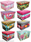 Large Sit on Storage Trunk Chest Toy Laundry Box Kids Bedroom Tidy Books Ottoman