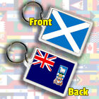Scotland Scottish Flag & Any Country Cos-Hun Gift Keyring Fob Chain 45 x 35 mm