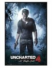 Uncharted 4 A Thiefs End Gloss Black Framed Cover Maxi Poster 61x91.5cm