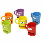 Fun & Quirky! Biscuit Monster Mouth Ceramic Dunk Mug With Cookie Holder