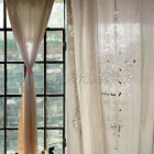 Vintage Cotton Linen Crochet Curtain Embroidered Hollow Pattern Lace Curtains