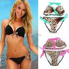 Sexy Fashion Hot Swimwear Set Swimsuit Bikini Push-up Pink  Padded Top Hot