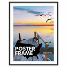 12 x 6 Custom Poster Picture Frame 12x6 - Select Profile, Color, Lens, Backing