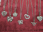 "Shining Rhinestone Crystal Charm Necklace Chain 16 to 18"" or 18 to 20"""