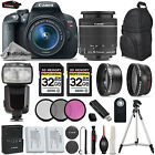 Canon EOS Rebel T5i SLR Camera 700D + 18-55mm IS + Flash + 64GB + Extra Battery