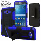 Full Body Armor Hybrid Case Kickstand Belt Clip Holster For Galaxy Grand Prime