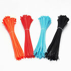 100pc 4x200mm Nylon Plastic Trim Wrap Cable Ties Wire Self-Lock for Arduino New