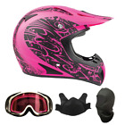 Snocross snowmobile helmets - Snowmobile Helmet Snocross Pink Splatter With Breathbox And Goggles Adult DOT