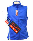 US Basic Cromwell Mens Soft Shell Body Warmer Gilet Blue Reflective Strips
