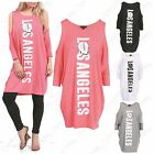NEW LADIES LONG BATWING TOP CUT OUT COLD SHOULDER WOMENS LOOSE FIT SLOUCH TUNIC