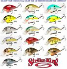 Strike King Crankbaits Square Bill KVD 8.0 Silent Magnum Fishing Lure Any Color