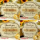 Personalised Engraved Magnetic Wooden Peg & Cream Gift Tags Wedding Favours