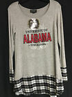 University of Alabama Ladies Grey and Plaid Flowy Top