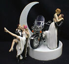 Wedding Cake Topper w/ Harley Davidson Motorcycle Black ROAD KING Sexy OR Kiss $71.0 USD on eBay