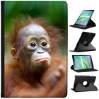 Orangutan Monkey Primates Animal Cover Leather Case For Samsung Galaxy Tablet