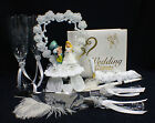 Alice in Wonderland Mad Hatter Wedding Cake Topper Glasses server Knife Book LOT