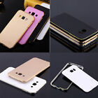New Luxury Aluminum Metal Bumper + Ultra Thin PC Back Cover For Samsung Galaxy