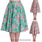 RKP81 Hell Bunny 50s Lacey Floral Swing Dance Rockabilly Circle Skirt Pin Up