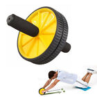 Dual Ab Wheel for Abs / Abdominal Roller Workout Exercise Fitness Blue Yellow