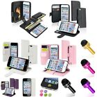 Flip Wallet Leather Case+Cap Pen+Colorful SP+Sticker For ipod touch 5 6 6th Gen