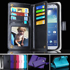 Leather Magnet  Coins Case for Samsung Galaxy S4  Wallet Cover Heavy Duty Tough
