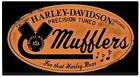 HARLEY-DAVIDSO​N® H-D® MUFFLERS ROAR Metal Die-Cut Embossed Sign Motorcycle 016