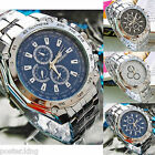 Men Watch Stainless Steel Sports Quartz Military Army Dial Wrist Wristwatch New