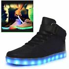 Unisex High Top USB LED Light Lace Up Sportswear Sneakers Luminous Shoes Casual