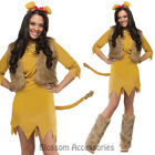 CL785 Ladies Lion Cowardly Fairy Tale Costume Halloween Wizard of OZ Outfit