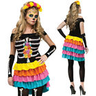 CL788 Dia De Los Muertos Mexican Day Of The Dead Skull Spanish Halloween Costume
