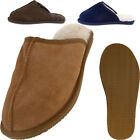 Lambland Mens Genuine Full Sheepskin Slipper Mules with Durable Sole