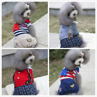 Small Cat Dog Jacket Design Jumpsuit Apparel Dress Various Jeans Leg Pant XS- XL
