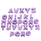 50pcs Hot Sale New Mixed White Rhinestone Alphabet A-Z Letter Random Charms LC