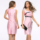 Fashion Women Sleeveless Bodycon Slim Evening Party Cocktail Pencil Office Dress