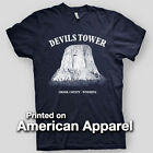 DEVIL'S TOWER Wyoming SPIELBERG Close Encounters AMERICAN APPAREL T-Shirt