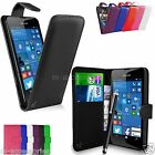 FLIP WALLET CASE POUCH PU LEATHER COVER FOR NOKIA / MICROSOFT LUMIA 550 + SP+PEN
